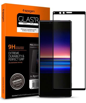 Spigen Sony Xperia 1 Full Cover Tempered Glass Screen Protector