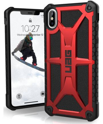 Urban Armor Gear Monarch Hoesje Apple iPhone XS Max Crimson
