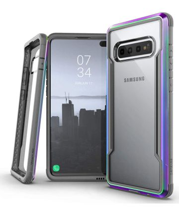 Raptic Shield Samsung Galaxy S10 Plus Hoesje Transparant/Iridescent