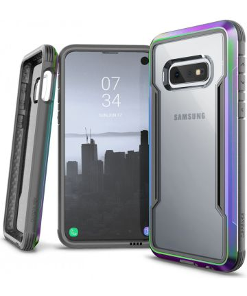 Raptic Shield Samsung Galaxy S10E Hoesje Transparant/Iridescent