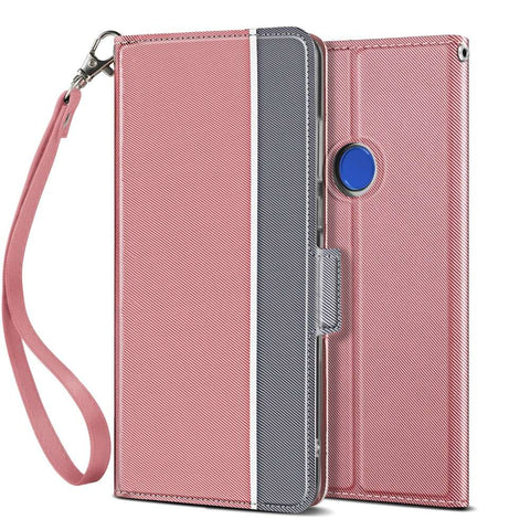 Redmi Note 7 Fashion TPU Wallet Hoesje - Rose Goud