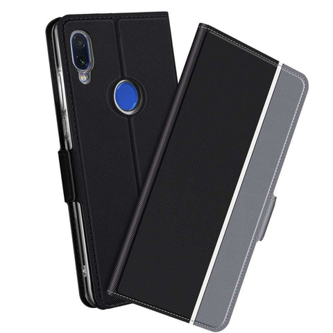 Xiaomi Redmi Note 7 Fashion TPU Wallet Hoesje - Zwart