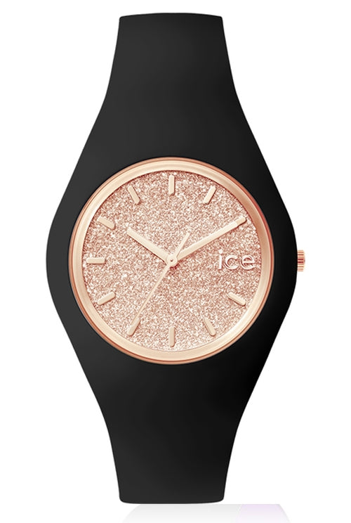 Montre ICE-WATCH Ice Glitter - M - Black Rose Gold-MONTRES-TAMARA