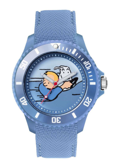 Montre TINTIN & CO Soviet speed car Silicone Blue Medium-Tintin-TAMARA