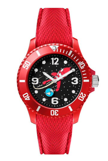 Montre TINTIN & CO Lune Silicone Rouge Small-Tintin-TAMARA