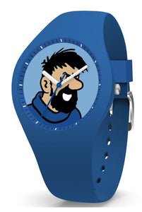 Montre TINTIN & CO Haddock Silicone blue Medium-Tintin-TAMARA