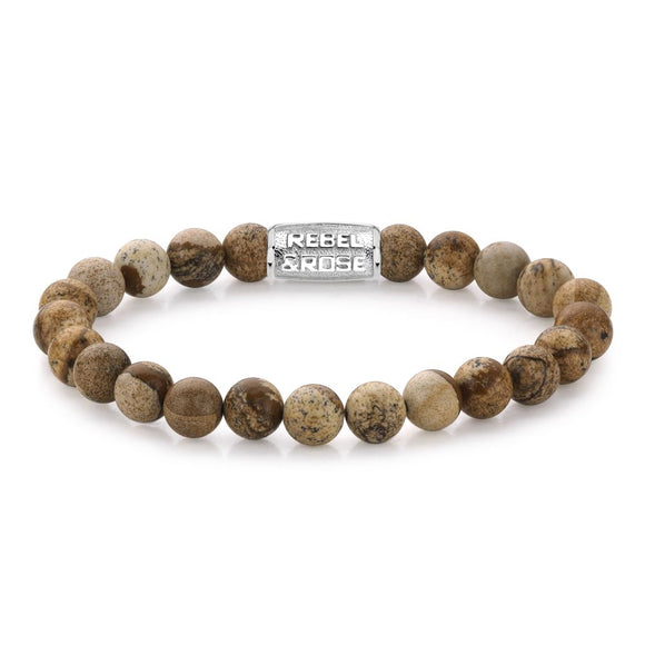 Bracelet REBEL & ROSE - Stones only - Woodstock - 8mm