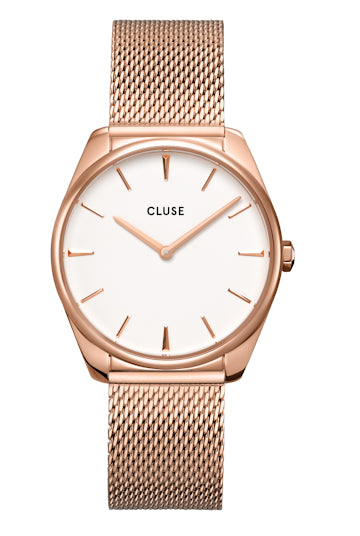 Montre CLUSE Féroce Mesh White/Rose gold CW0101212002-Cluse-TAMARA