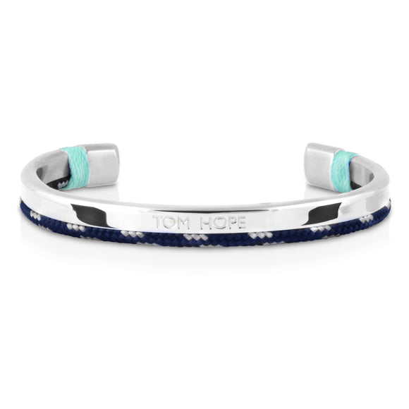Jonc Tom Hope Hybrid Cuff Ice Blue Silver-STYLES-TAMARA