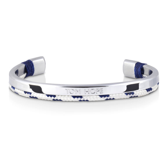 Jonc Tom Hope Hybrid Cuff Royal Blue Silver-STYLES-TAMARA