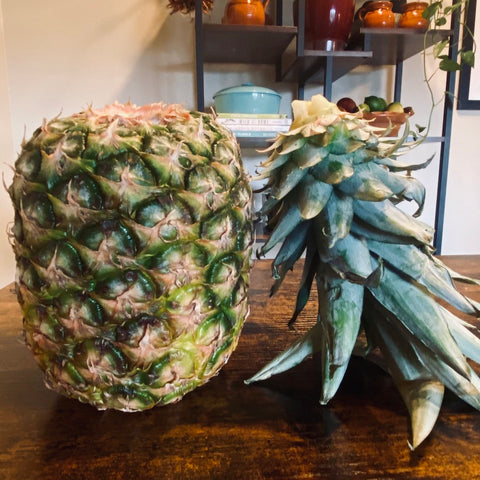 Pineapple with top twisted off