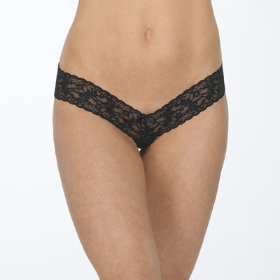 Signature Lace Crotchless Thong