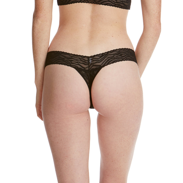 Zebra Lace Low Rise Thong