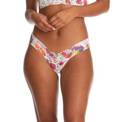 Floral Reflections Low Rise Thong