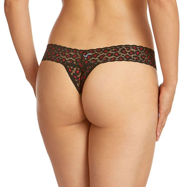 Cross-Dyed Low Rise Thong