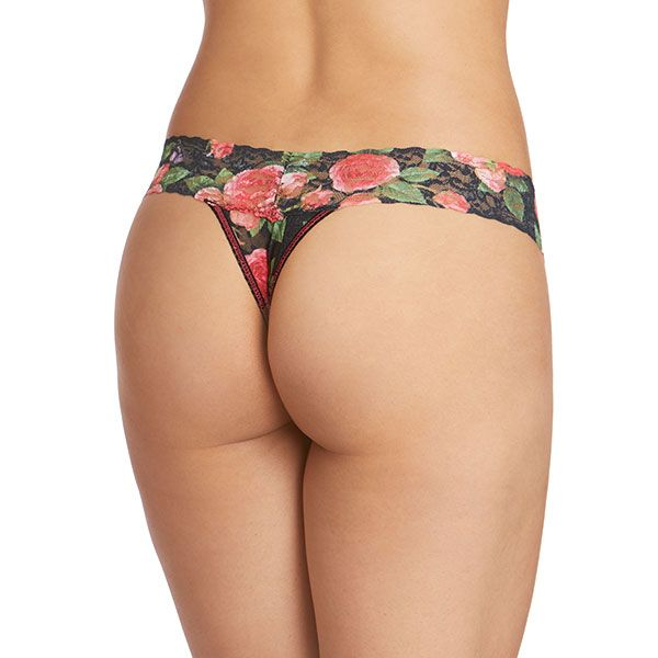 Papillion Rose Low Rise Thong