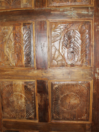 Antique Door Panel, Artisan Carved BARNDOOR, Rustic Door, Hand Carved Reclaimed Wood OLD wORLD King Headboard, Table Top 80x36