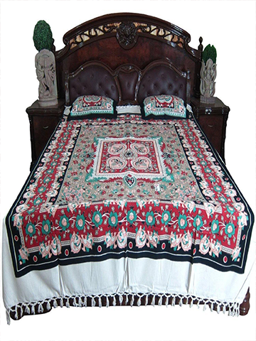 3pc Boho Indian Bedding Cotton Bedspreads Pillows Moroccan Bed Sheet Indian Print 100% Cotton Bed Cover Ethnic