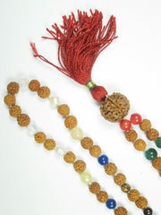 PEACE Healing Nine Planet Chakra Mala Beads  Rudraksha Prayer Meditation Japamala  Zen Yoga Necklace - mogulgallery