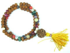 Healing Nine Planet Beads Navgraha Reiki Meditation  Japamala Yoga Necklace Wrap Wrist Mala 108+1 - mogulgallery