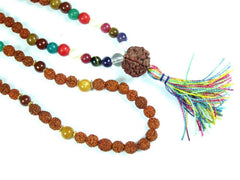 Earthing Meditation Mala Beads Nine Planets Navgraha Healing Stones Prayer Yoga Rosary Malas Yoga Necklace - mogulgallery
