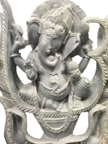 Good Luck OM Ganesha Sculpture Home Decor Lord Ganesha Statue - mogulgallery