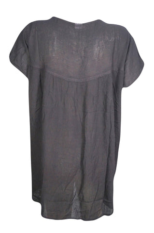 Womens Tunic Embroidered Gauzy Rayon Loose Blouse Top 2XL - mogulgallery