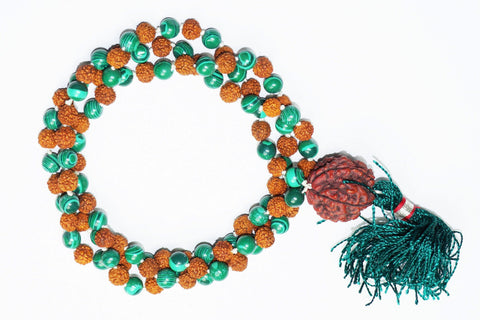 Meditation Healing Fashion Mala Beads Turquoise Jade Rudraksha Energy Prayer Necklace Gift - mogulgallery