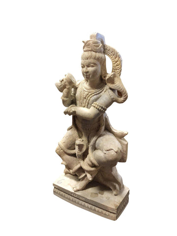 SHIVA, SHIV, MAHADEV, Bhole Shiva Dancing With the Damru Stone Statue Sculpture Holistic Decor - mogulgallery