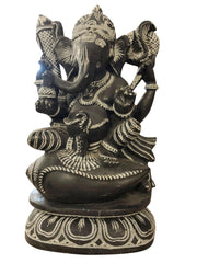 Shri Gajmukh Ganesha Stone Statue Religious Lord Sculpture God of Success Decorative - mogulgallery