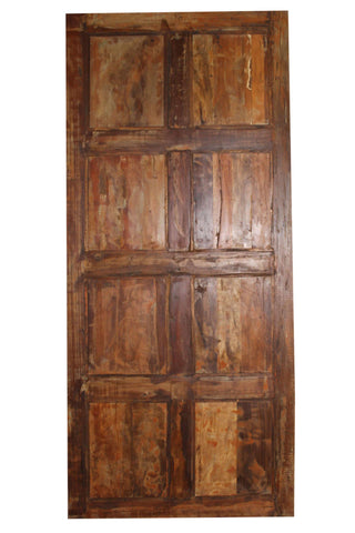 Antique Door Panel, Artisan Carved BARNDOOR, Rustic Door, Hand Carved Reclaimed Wood OLD wORLD King Headboard, Table Top 80x36 - mogulgallery