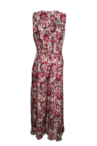 Womens Maxi Dress Casual Sleeveless Printed Scoop Neck Rayon Summer Beach Long Sundress S/M - mogulgallery