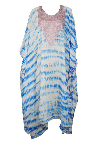 Womens Kaftan Maxi Dress, Tie dyed kaftan, plus size clothing, Summer party dress, Cocktail party kaftan, Hand tie dyed loose Caftan 4X - mogulgallery