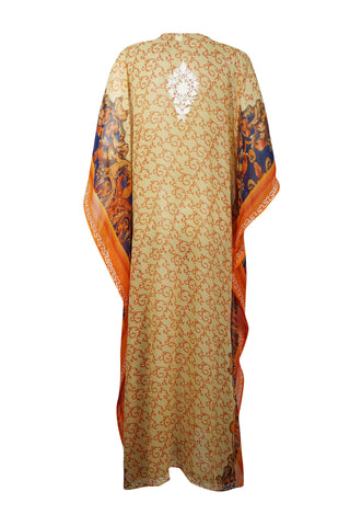 Womens Kaftan Maxi Dress, Bohemian Summer Dress, Halloween Bohemian Embroidered dress 4X - mogulgallery
