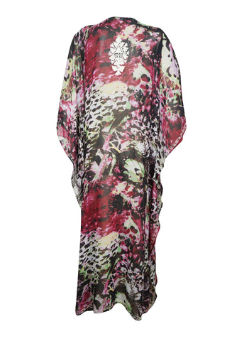 Womens Kaftan Maxi Dresses, BOHO GODDESS, Black White Floral Embellished Caftan Lounger, Resort Wear,  Plus Size L-4X - mogulgallery