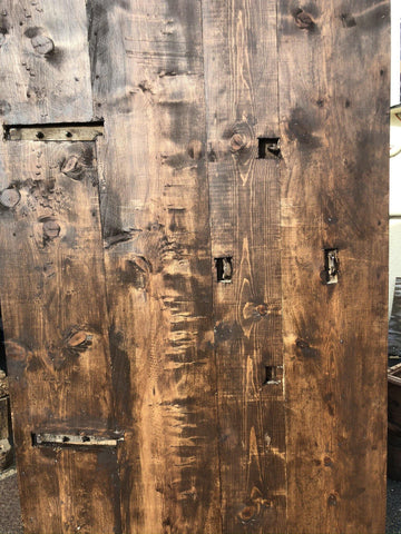 Antique BARN DOOR, CUSTOM Doors, Rustic Farmhouse Barndoor, Architectural Design 80x40 - mogulgallery