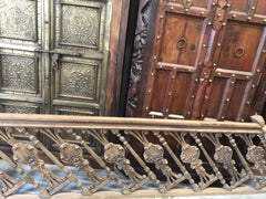 18c Architectural Veranda Terrace Railing, Antique Carved Staircase Balusters, Floral Carved Mediterranean FARMHOUSE Design - mogulgallery