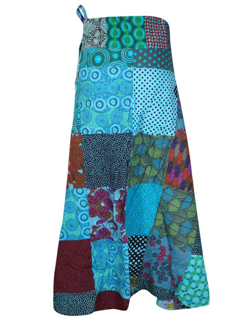 Womens Wrap Maxi Skirt, Floral Printed Bohemian Wrap Skirt Printed Cotton, Beach Wrap, Summer Skirts Onesize