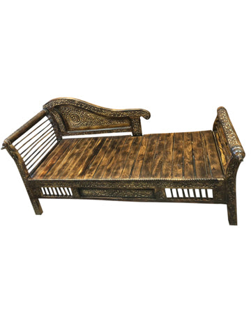 Vintage Carved Garden Bench, Veranda Loveseat, Courtyard Sofa, Farmhouse Bench, Beautiful Carved Design PAIR AVAILABLE
