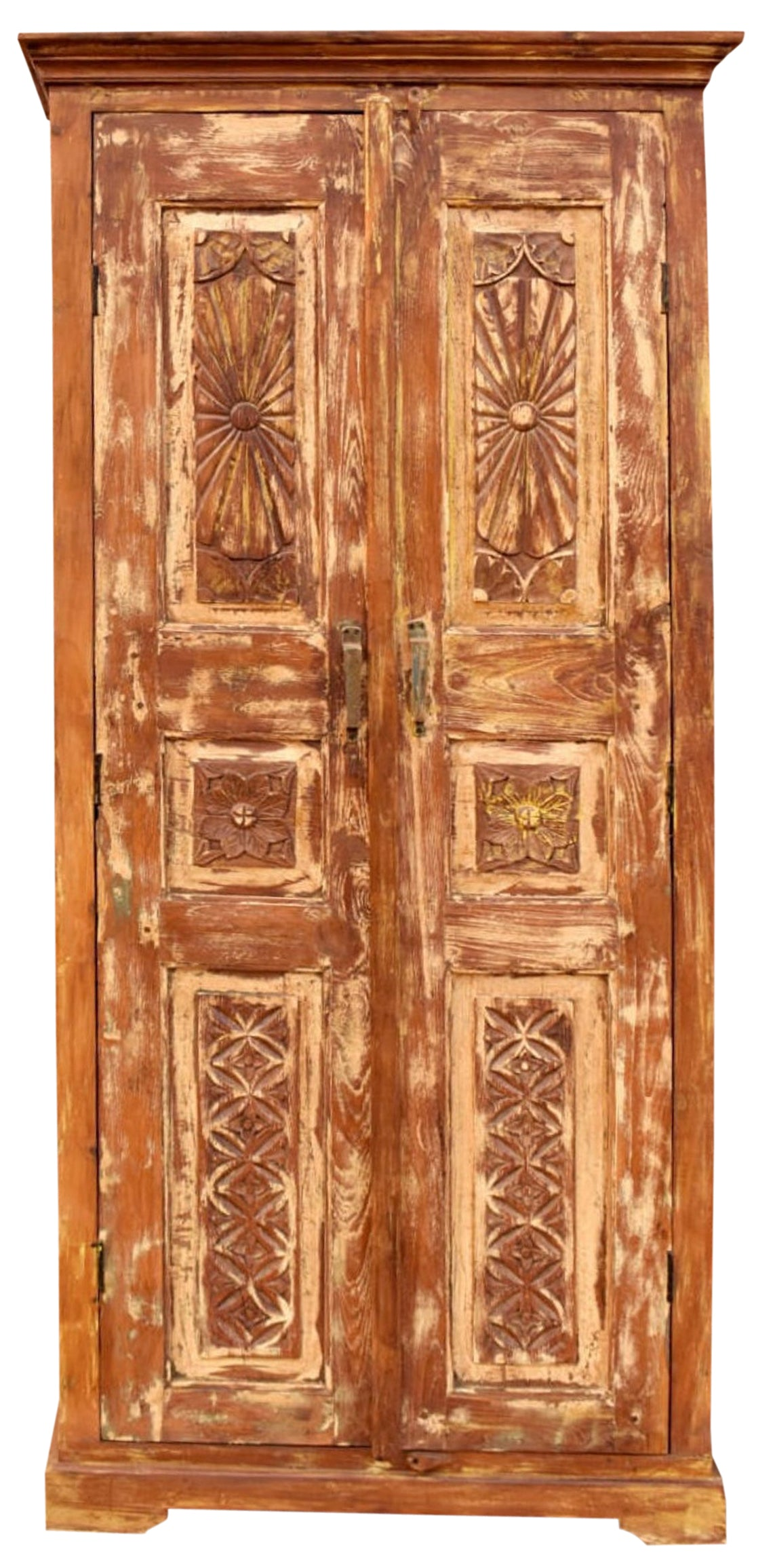 Rustic Chakra Armoire, Floral Carved Cabinet, Vintage Reclaimed Wood  Handcrafted Storage Chest, Farmhouse Kitchen Decor 9X9