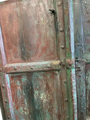 Antique Door, Arched Accents, Indian Mehrab Old Door, Blue Green Door, Rustic Door, One Of A Kind, Farmhouse Barn Door, Boho Chic Decor