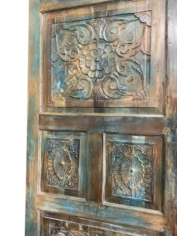 Vintage Carved Door Panel, Farmhouse BARN DOOR, Old Door, Rustic Wall Panel, Headboard, Barndoors 80x36