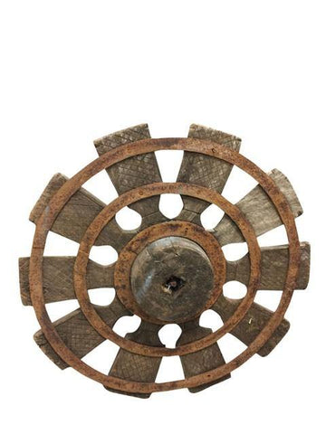 Antique Charkha Spinning Wheel - mogulgallery