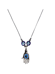 Hamsa Evil Eye Pendant Necklace - Evil Eye Jewelry for Success and Protection