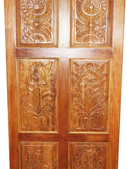 OLd World Antique Doors, Artisan Carved Barndoor, Teak Wood Panels, Rustic Farmhouse Doors, Architectural Design, PAIR 96x36 EACH