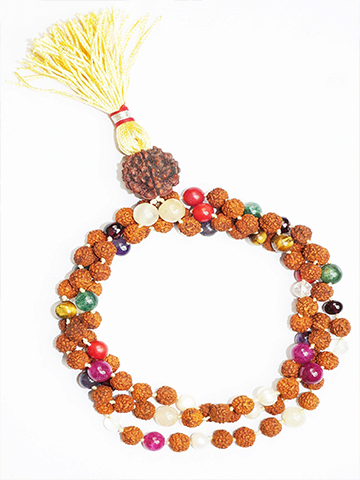 Meditation Prayer Mala Gemstone Japamala Seven Chakra Balancing Malabeads Necklace