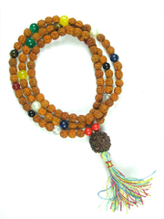 Meditation Yoga Spiritual Mala Beads Navgraha Nine Stone Rudraksha Yoga Prayer Mala Necklace