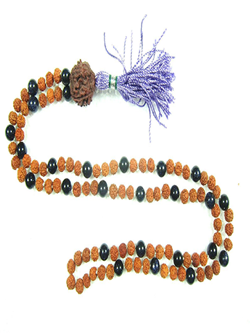 THIRD Eye CHAKRA Buddhist Necklace Rudraksha AMETHYST 108  Mala Beads Meditation Yoga Jewelry