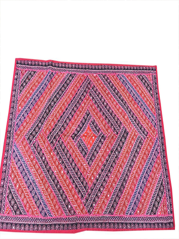 Bohemian Ethnic Indian Decorative Tapestry Pink Blue Patchwork Wall Hanging Home Decor
