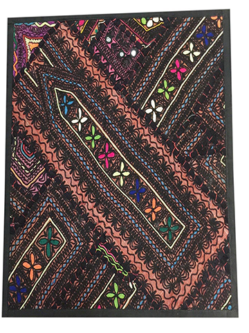 Indian Sari Tapestry Wall Hanging Sequin Embroidered Wall DecorIndian Throw Patchwork Banjara Black Kutch Tapestry 18X18